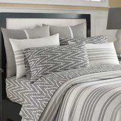 Add a touch of style to your master suite or guest room with this lovely cotton sham, showcasing a lovely gray hue.