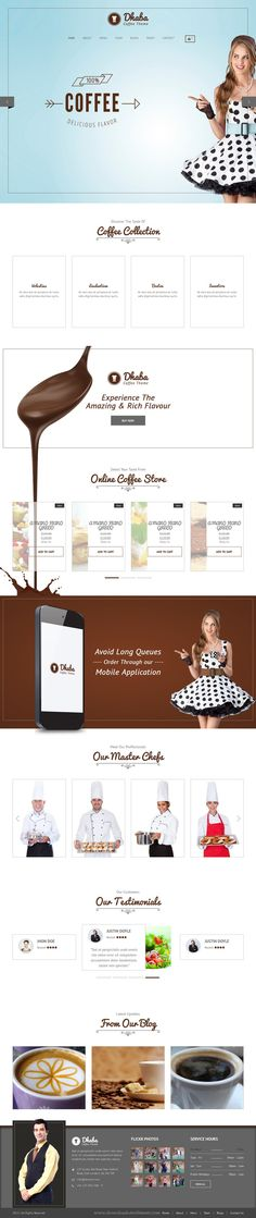 Dhaba is a fully responsible #WordPress template designed for restaurants, bakeries and #coffee shops #website. It is extremely clean with 3 different homepages.