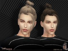 This hairstyle for men's hair  Found in TSR Category 'Sims 4 Male Hairstyles'