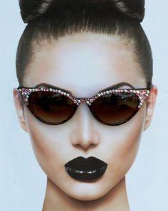 5b3c0eb4bfc5f Retro Cateye Sunglasses, Sunglasses Cateye, Boho Sunglasses, 1950 s Su