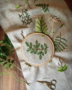 Working on this design for the Botanical Embroidery Workshop at West Elm in a couple of weeks. If you'd like to join there are still spots left. I'll be teaching all the necessary stitches and tips for creating beautiful and fresh designs inspired by Mother Nature. You can book on the website, link in bio. Hope to see you there!