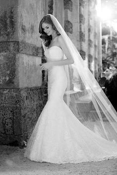 Strapless lace wedding dress from the Martina Liana 2016 Bridalwear Collection | Love My Dress® UK Wedding Blog