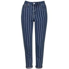 Petite Women's Topshop Laser Stripe Crop Jeans (98 CAD) ❤ liked on Polyvore featuring jeans, pants, denim skinny jeans, cropped skinny jeans, blue high waisted jeans, high waisted skinny jeans and cropped jeans
