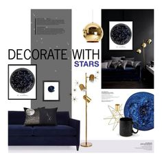 """Celestial Home"" by magdafunk ❤ liked on Polyvore featuring interior, interiors, interior design, casa, home decor, interior decorating, Global Views, Arteriors, Waterford e Tom Dixon"