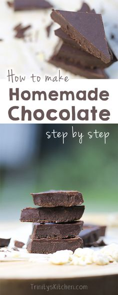 Video guide all about making your own chocolate, step by step. #dairyfree #vegan…
