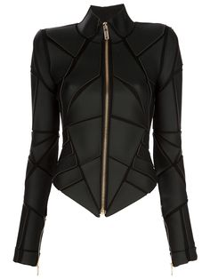 Gareth Pugh Geometric Panelled Jacket in Black | Lyst