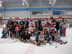 """Group shot with kids out of the crowd. """"Hanson Brother"""" fund raiser August 2006 in Virginia.  I am pretty sure I was yelling """"free beer afterwards at Jimmy's""""."""