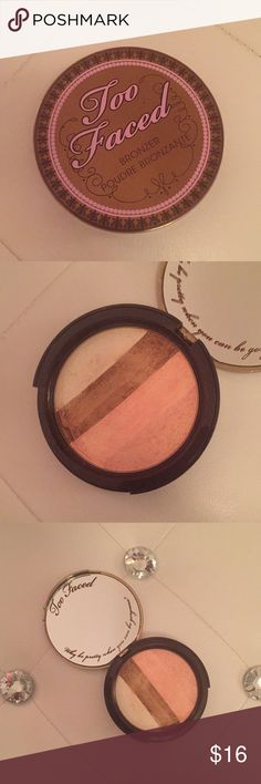Too Faced Snow Bunny Sunkissed Bronzer Powder Gorgeous highlighting and bronzing powder with a subtle pink tint and golden base. Perfect to add a sun kissed glow to your look. Recommended for light to medium skin tones, but can also be used as a highlighter for darker complexions. This Too Faced makeup palette was purchased from Sephora and is in great condition with a majority of the product remaining.   In addition, if you find anything else in my closet that you like I discount all…