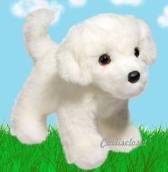 "Douglas Bailey BICHON FRISE 10"" Plush Stuffed Animal White Puppy Dog NEW #DouglasCuddleToy"