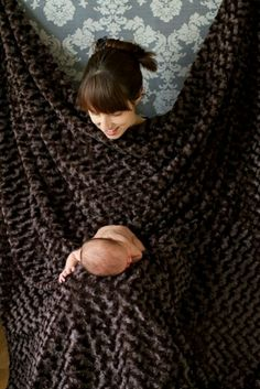 Awesome idea for those hard to pose newborn moments