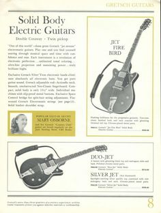 Nice #Gretsch guitars here... classic. #guitar