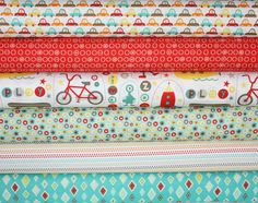 Boy Crazy quilt or craft fabric bundle by Minds Eye for Riley Blake Designs- Fat Quarter Bundle, 6 total on Etsy, $16.50
