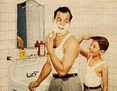 Shaving Dad