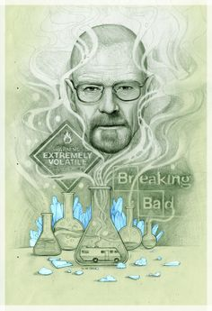 Breaking Bad poster by Gabriel Marques in Sao Paulo, Brazil Breaking Bad 2, Breaking Bad Party, Breaking Bad Series, Breaking Bad Poster, Bad Art, Cartoon Sketches, Graphic Artwork, Get Shot, Dope Art