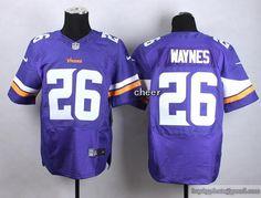 2015 new draft nike vikings 26 trae waynes purple elite jersey
