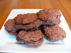 Chocolate Coconut Biscuits (also known as Romany Creams)