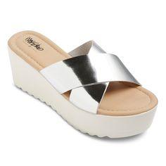 Women's Miriam Platform Slide Sandals - Silver