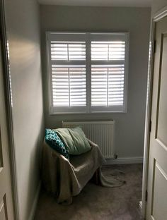Our client choose 63mm shutters in pure white with mid rails and tilt rods. If you would like a quote you can book online and choose your own appointment http://ift.tt/1ocfyRO or call us on 01858 456419
