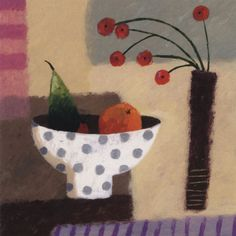 Fruit Bowl – Sophie Harding= Still life abstraction= picasso like