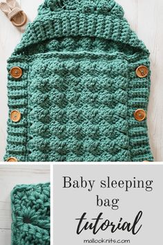 Easy, textured crochet sleeping bag pattern, perfect for the stroller. Free and easy crochet baby sleeping bag pattern. Ideal size for the stroller and very practical baby shower gift to make for new moms. Crochet Baby Cocoon Pattern, Baby Girl Crochet, Crochet Baby Clothes, Crochet For Boys, Baby Blanket Crochet, Crochet Baby Toys, Crocheted Baby Blankets, Crochet Baby Stuff, Crochet Children