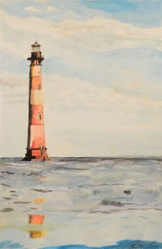 Original Lighthouse watercolor painting. Interested in purchasing? Follow the link below and check out all my work on Etsy!  https://www.etsy.com/listing/156412414/original-watercolor-print-light-house?ref=shop_home_active