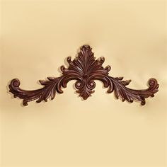 Basil Street Gallery AE9202 Baroque Architectural Wooden Wall Pediment 3D Wall Art