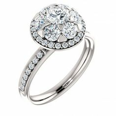0.50 ct Round Floral-Inspired Engagement Ring