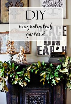 DIY Magnolia Leaf Garland