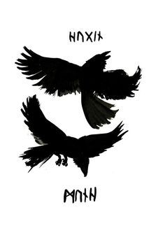 Odin's Ravens (2) by Jauda.deviantart.com on @DeviantArt