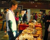 Shelburne Farms cheese at Burlington Winter Market.    Read more on Examiner.com #colchesterfme