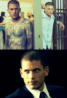 Wentworth Miller as Michael Scofield in Prison Break Wentworth Miller Prison Break, Wentworth Prison, Infj Characters, Prison Break 3, Leonard Snart, Dominic Purcell, Michael Scofield, That One Friend, Ex Husbands