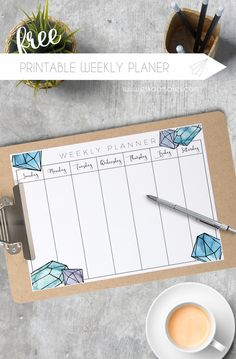 Free Printable: weekly planner for 2017 Study Planner, Planner Pages, Monthly Planner, Happy Planner, Planner Board, Week Planner, 2015 Planner, Blog Planner, Planner Ideas