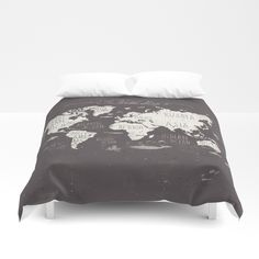 Buy The World Map Duvet Cover by mikekoubou. Worldwide shipping available at Society6.com. Just one of millions of high quality products available.
