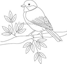 Bird embroidery pattern