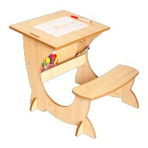 3-in-1 Art Station With Blackboard And Easel