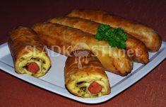 Listové záviny s debrecínkami Hot Dog Buns, Hot Dogs, Bread, Ethnic Recipes, Food, Essen, Breads, Baking, Buns
