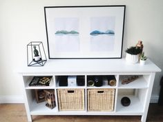 #ikeahemnes console table in the dining room #diy  #lowbudgetfurniture Ikea hack