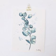 Original paintings on watercolour paper, these pieces are loose and calming, abstract and versatile home decor. Affordable prices to suit all budgets, one of a kind artworks. Plant Illustration, Watercolor Illustration, Watercolour Painting, Watercolor Flowers, Watercolor Ideas, Botanical Drawings, Botanical Art, Original Paintings, Original Art