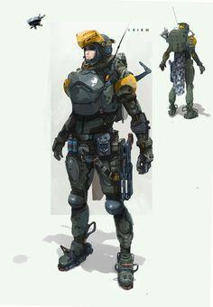 armor-g, Dmitri Dimas-ch on ArtStation Futuristic Armour, Futuristic Art, Cyberpunk Character, Cyberpunk Art, Armor Concept, Concept Art, Character Concept, Character Art, Character Portraits