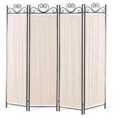 Port Angeles Four Panel Butterfly Decor Folding Screen in Metal Black Verde