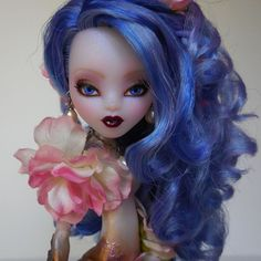 "Ooak Monster High Sirena Von Boo Mermaid Art Doll Custom Repaint ""Lily"" by Lisa #DollswithClothingAccessories"