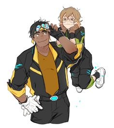 Voltron ✰ Legendary Defender Pidge and Hunk Voltron Klance, Hunk Voltron, Voltron Fanart, Form Voltron, Voltron Ships, Voltron Force, Samurai, Fan Art, Space Cat