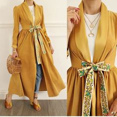 Look smart, be smart 🎈 Shop this look 🛍 Oversized popline cotton jacket in style DM for orders 👗 . Hijab Style Dress, Hijab Outfit, Dress Outfits, Casual Dresses, Casual Outfits, Abaya Style, Abaya Fashion, Muslim Fashion, Modest Fashion