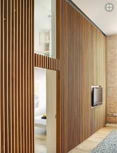 Apartment at Bow Quarter / Studio Verve Architects Why woodn't you want to live here? Apartment at bow quarter by studio verve architects. Wood Slat Wall, Wood Slats, Wood Paneling, Timber Panelling, Paneling Ideas, Timber Walls, Wooden Walls, Wooden Wall Design, Plywood Walls