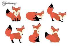 fox clipart whimsical foxes clip art cute woodland critter