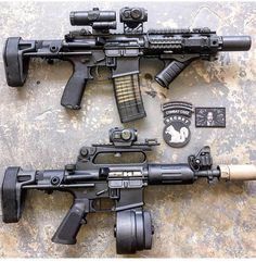 Double Pew Pew from Xproducts. Military Weapons, Weapons Guns, Guns And Ammo, Airsoft, Ar15 Pistol, Custom Guns, Cool Guns, Assault Rifle, Firearms