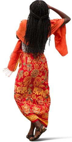 African Woman in Traditional Ethnic Dress by Mrcutout. African Men Fashion, Ethnic Fashion, African Women, People Cutout, Cut Out People, Photomontage, Beautiful Ankara Gowns, Render People, People Png