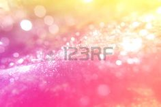 milagros: abstract bokeh light blur bubble background on pink zone and yellow hidden - can use to display or montage on product or concept to miracle background Foto de archivo