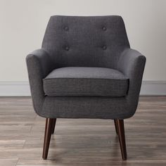 Clyde Grey Linen Chair - Overstock™ Shopping - Great Deals on Living Room Chairs