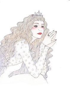 2015 works - maegamimami Whimsical Art, Art Sketchbook, Magical Girl, Art Reference, Watercolor Art, Illustrators, Design Art, Art Drawings, Pop Art